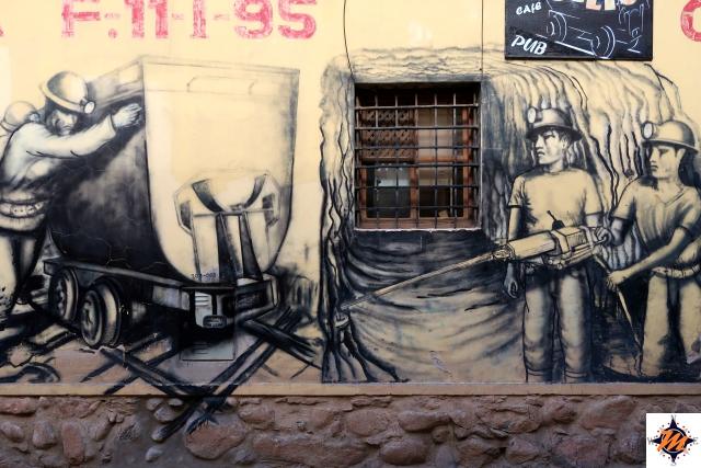 Potosí, murales minatori