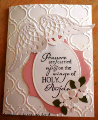 ODBD Holy Angels, ODBD Custom Angel Wings Dies, Card Created by Liz aka LazyLizard