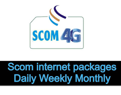 Scom internet data packages Daily Weekly Monthly