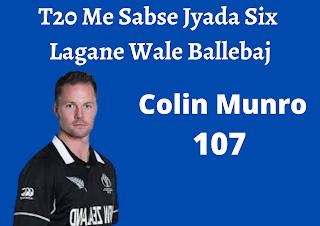 T20 Me Sabse Jyada Six Lagane Wale Ballebaj