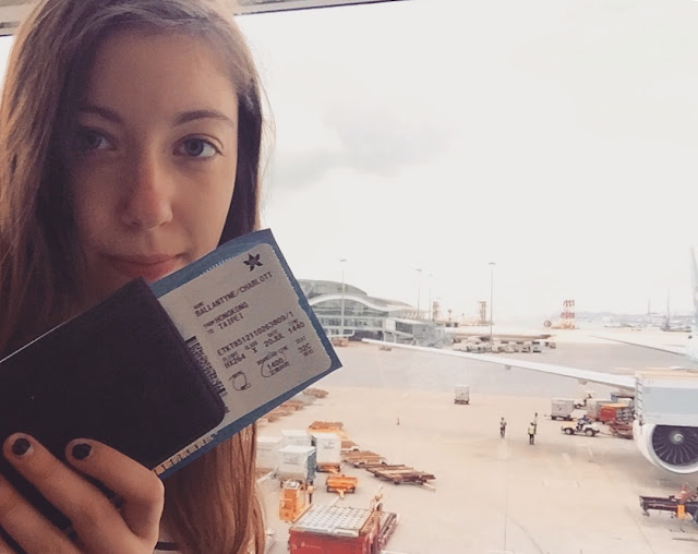 Selfie at Hong Kong Airport