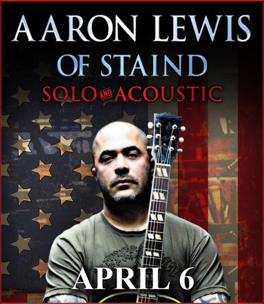 a place for tickets the blog staind s aaron lewis brings his solo acoustic tour to south. Black Bedroom Furniture Sets. Home Design Ideas