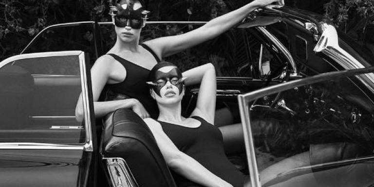 Ιρίνα Σάικ και Αντριάνα Λίμα ποζάρουν με δερμάτινα εσώρουχα σε στιλ «Μάτια Ερμητικά Κλειστά» (ΦΩΤΟ)