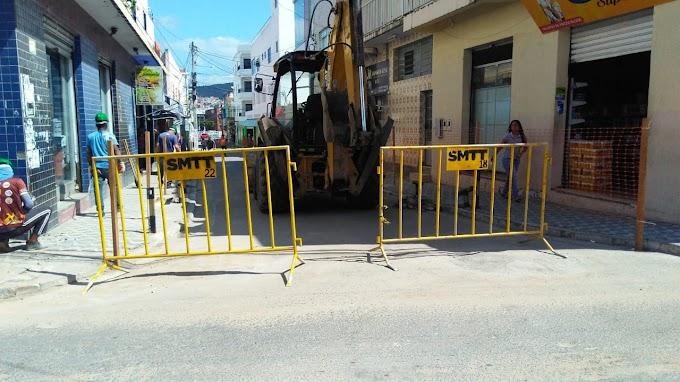 Ruas são interditadas para a ampliação do Calçadão de Jacobina