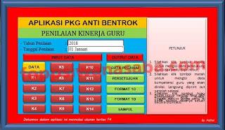 Aplikasi Penilaian Kinerja Guru (PKG) Anti Bentrok Terbaru..