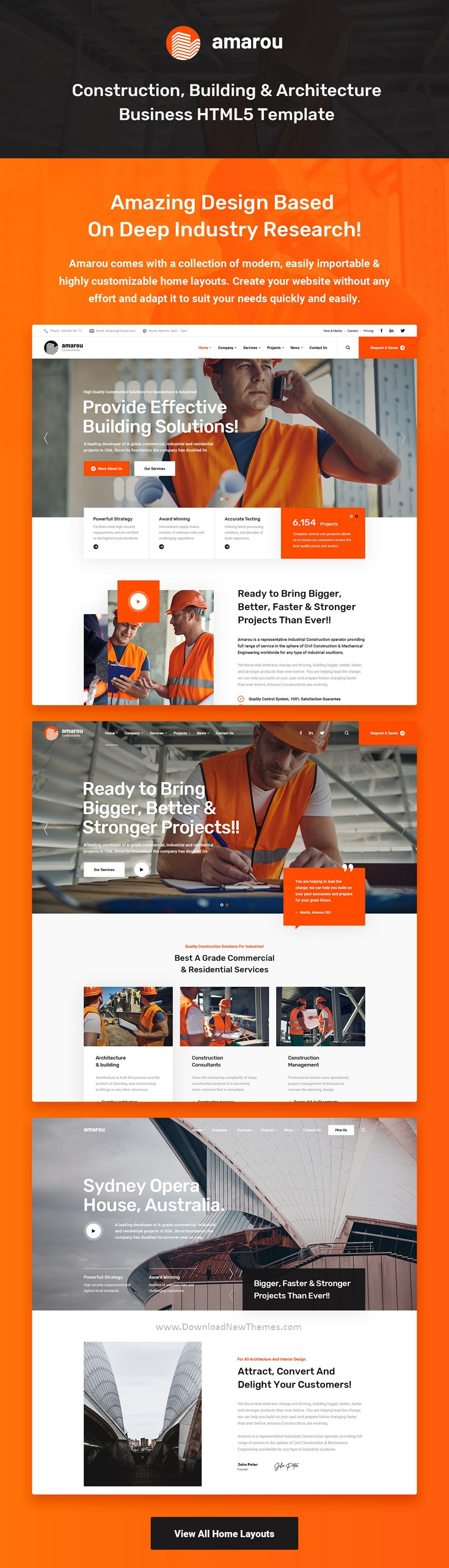 Construction and Building Template