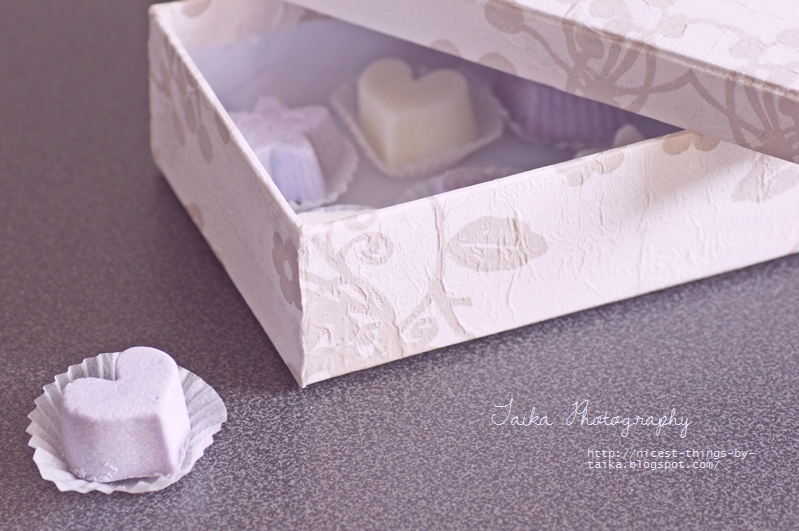 Badepralinen DIY verpacken als Geschenk zum Muttertag
