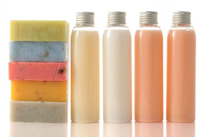 Diferentes tipos de jabones producto de saponificación