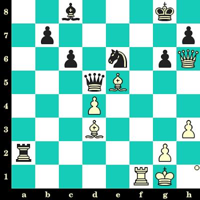 Les Blancs jouent et matent en 2 coups - Nana Dzagnidze vs Tsiala Kasoshvili, Tbilissi, 2000