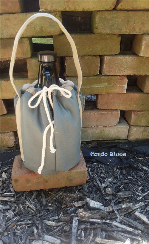how to make an insulated beer growler carrying bag