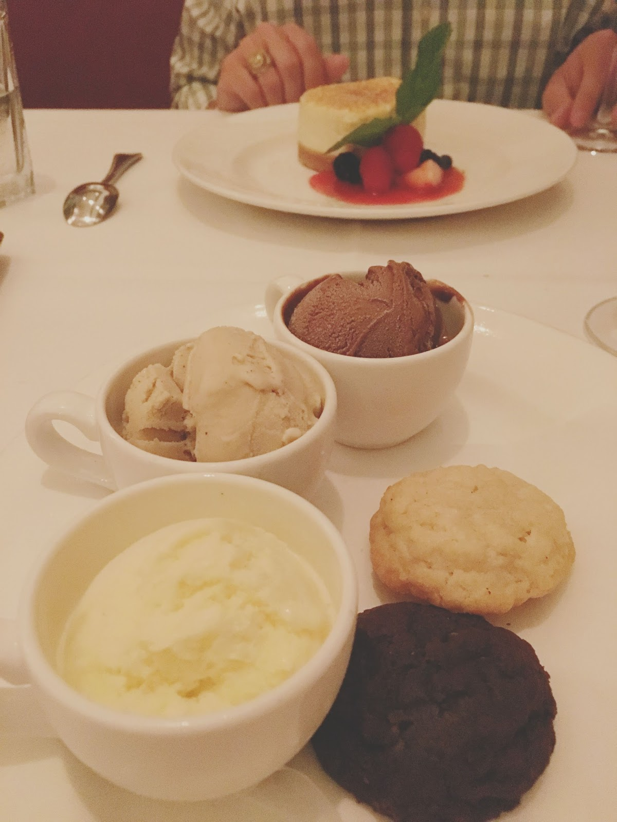 cookies and ice cream at The Capital Grille - A restaurant in Houston, Texas