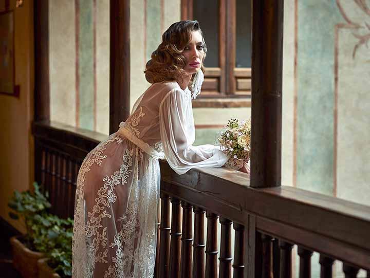 peinado de novia con ondas 2020