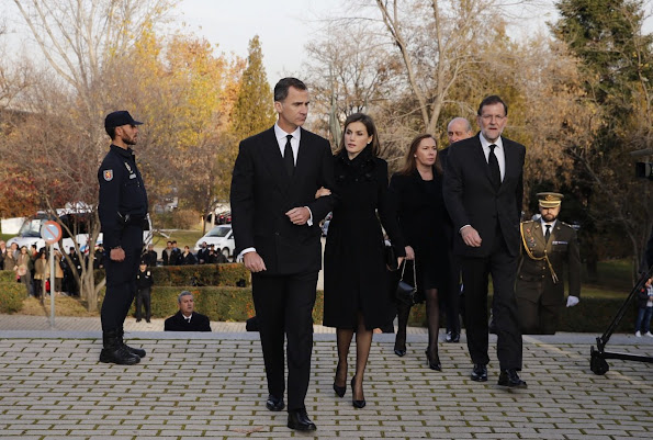 King Felipe and Queen Letizia of Spain attend a funeral ceremony. The Spanish government said on December 12, 2015 a Taliban attack on the diplomatic quarter of the Afghan capital Kabul, in which two Spanish policemen were killed, was 'an attack on Spain.' The death toll, at least six according to reports from Kabul, was not clear on December 12, 2015. Afghan officials said four Afghan police officers were killed.