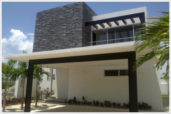 Fachadas contempor neas fachada de residencia for Piedras para fachadas minimalistas