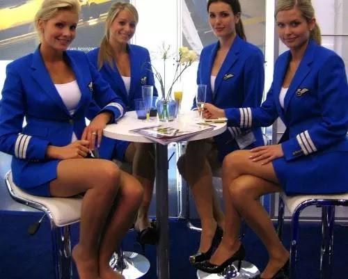 Wow British Stewardess Looks Dare