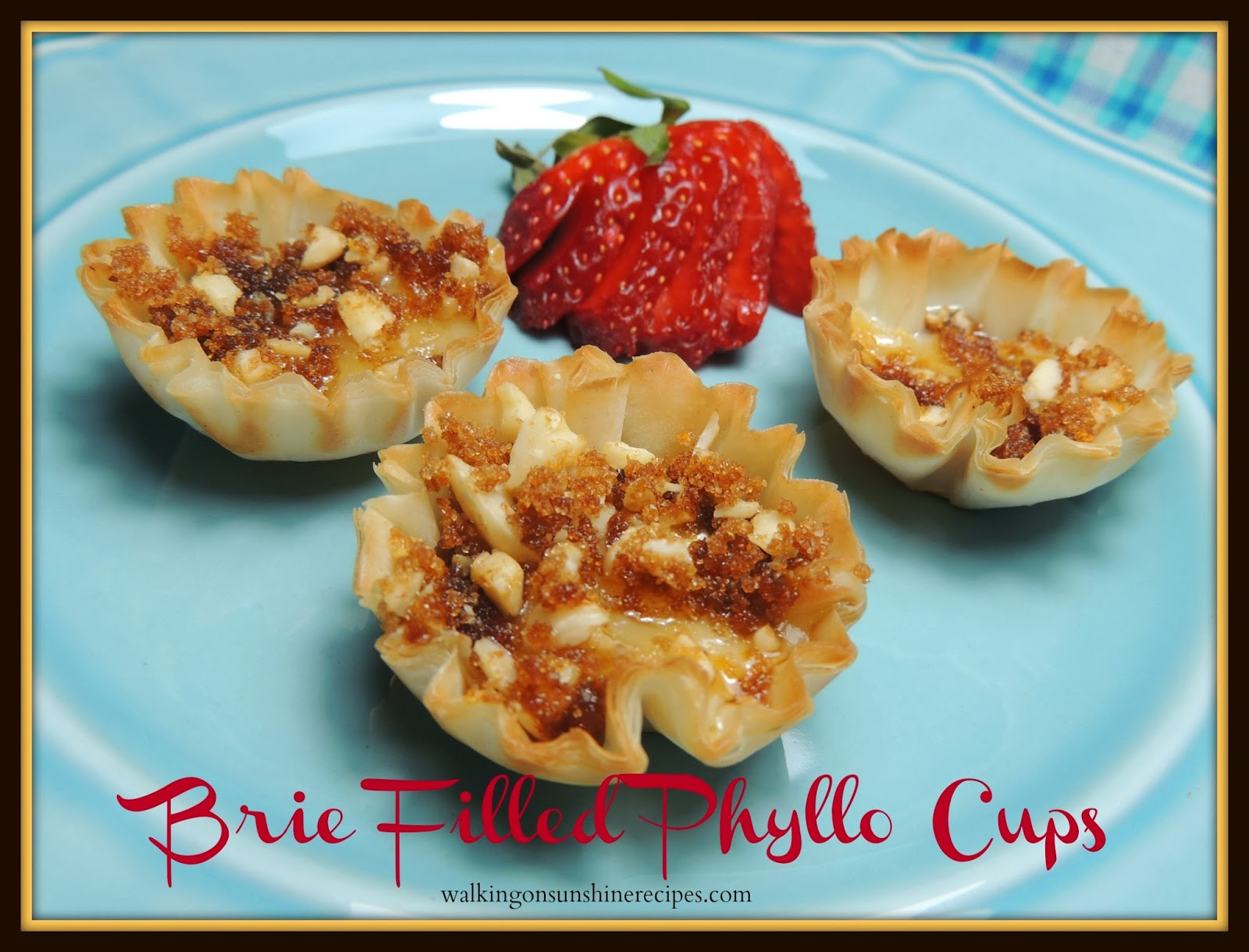 Brie Filled Pastry Cups