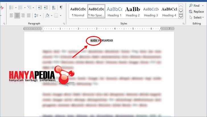Cara membuat kata bookmark di word