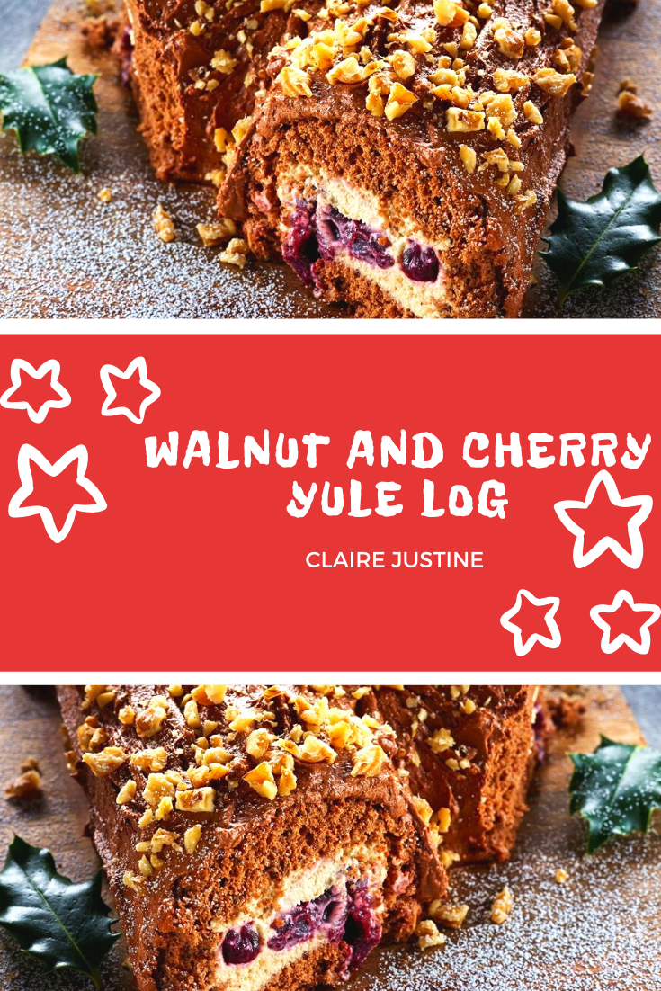 Walnut And Cherry Yule Log: Christmas Recipe