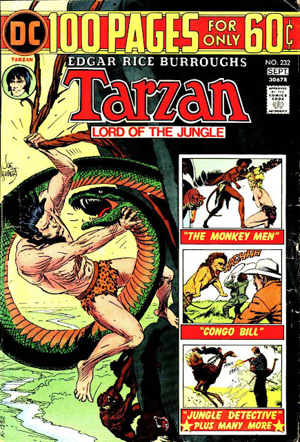 Tarzan v1 #232 dc comic book cover art by Joe Kubert