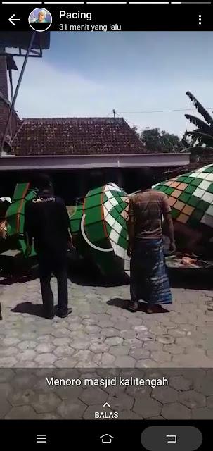 Allahu Akbar! Angin Kencang Robohkan Menara Masjid di Demak, Timpa Rumah Warga