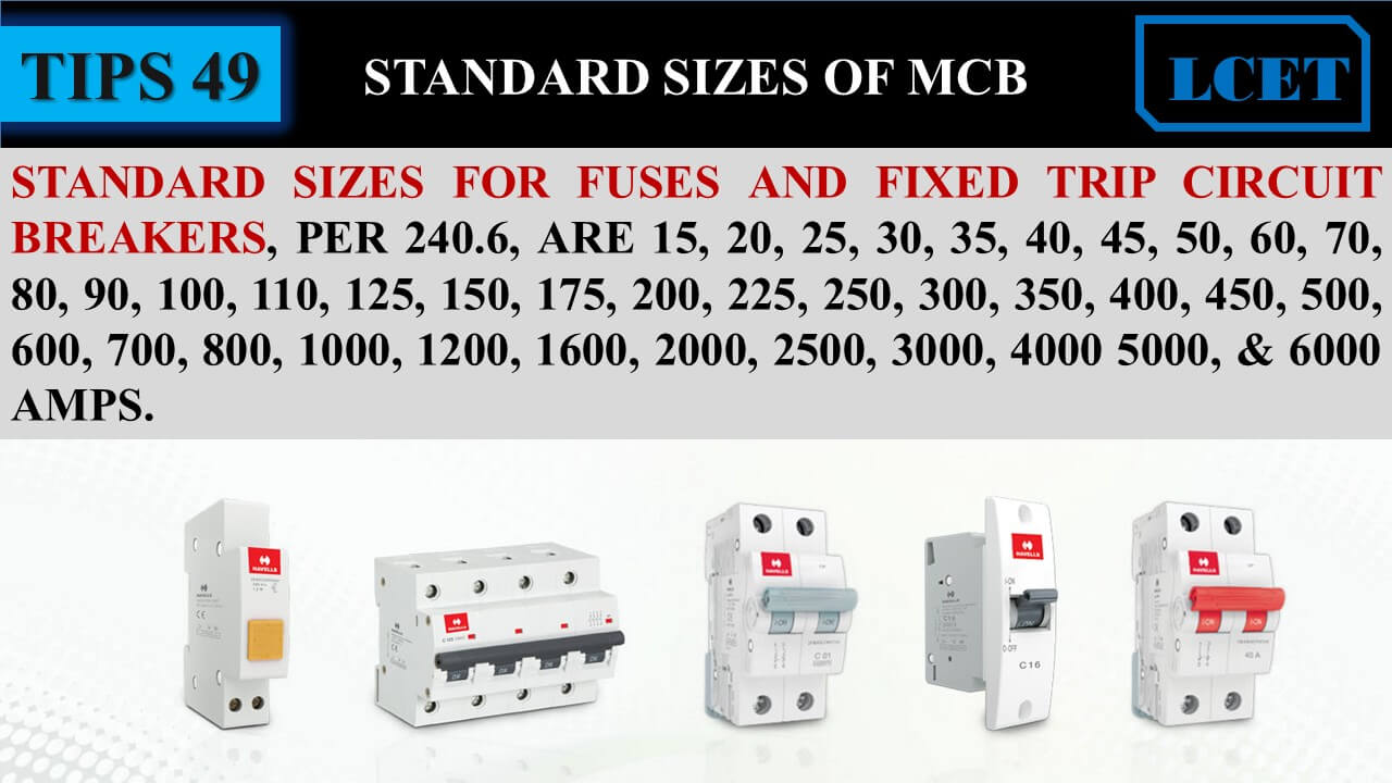 HOW TO CHOOSE RIGHT MCB BREAKER