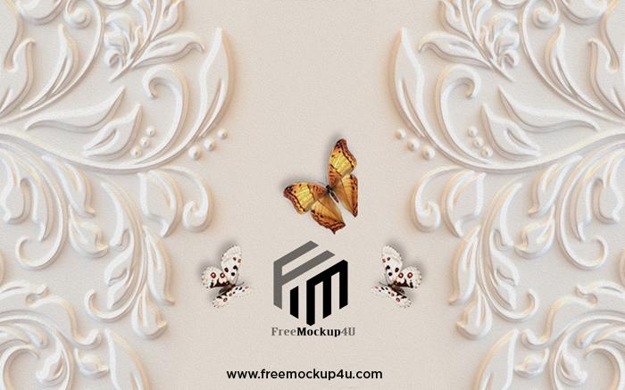 Modern 3D Beautiful Pattern Embossed Butterfly TV Background Wall