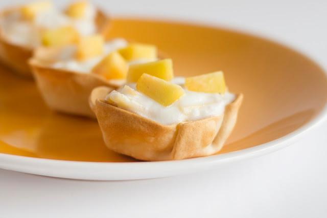Tartaletas de yogur y melocotón - Mas que pasta