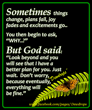 Sometimes Things Change Plans Fail Joy Fades And Excitements Go