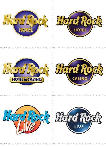 Os logotipos dos hotéis, cassinos e arenas também passaram por alterações  ao longo dos anos. adc6cb1219