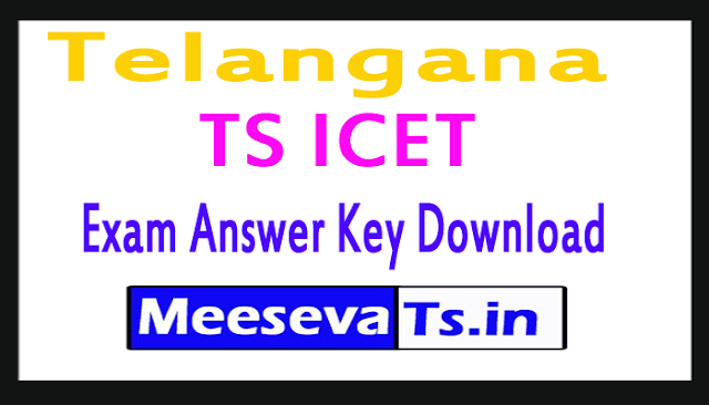 Telangana TS ICET Exam Answer Key Download 2018