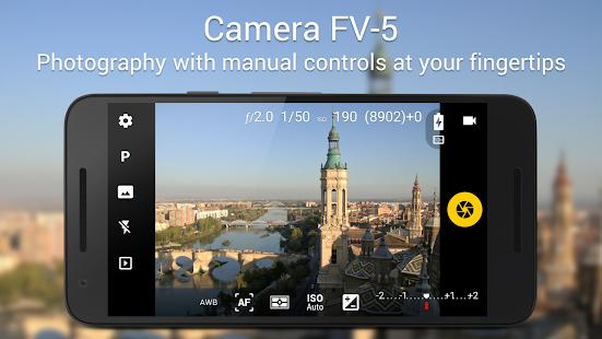تحميل تطبيق Camera FV-5 v5.1.4 (Paid) Apk النسخة المدفوعة لهواتف الاندرويد