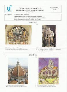 Resultado de imagen de examen de historia del arte