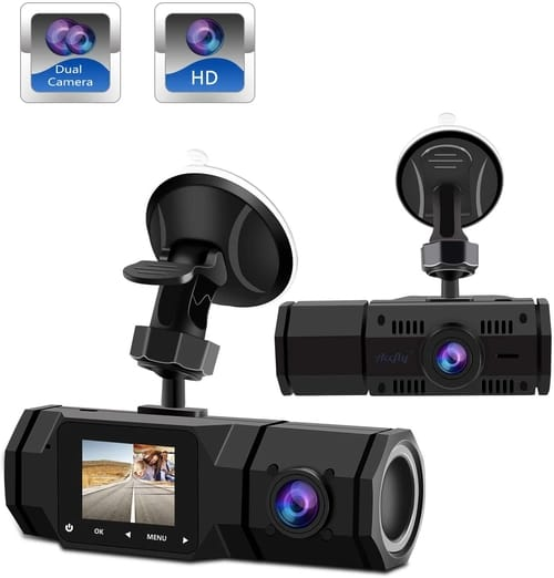 Review Accfly 1080P Dual Car Dash Camera