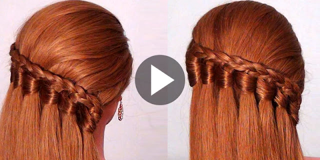 How To Create Waterfall Braid Hairstyle, See Tutorial