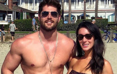 Nick Bateman with his wife Maria in a beach
