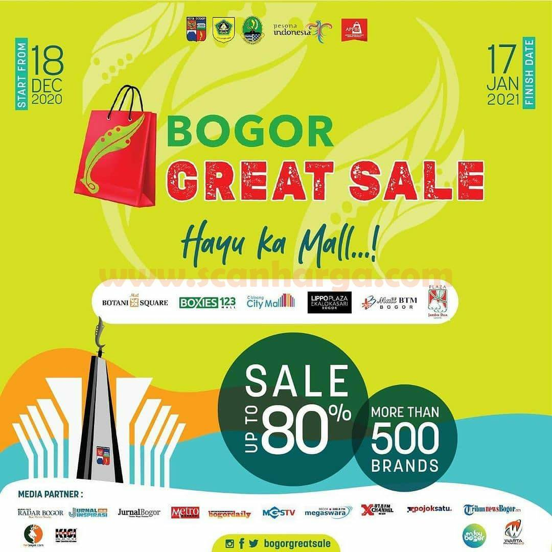BGS! BOGOR GREAT SALE 2020 – Discount Up To 80% more than 500 Brand