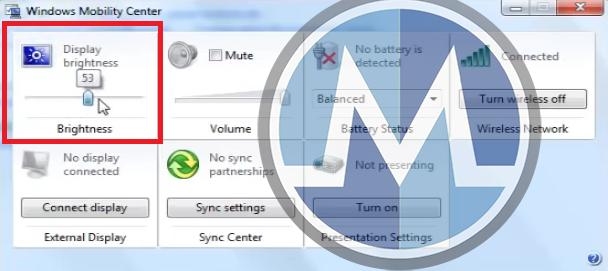 التحكم في اضاءة او سطوع شاشة الكمبيوتر