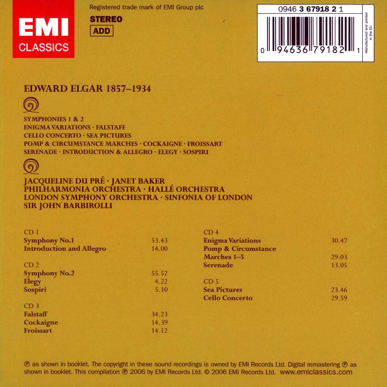 Jacqueline Du Pré , Janet Baker , London Symphony Orchestra, The* London Symphony Orchestra·, Sir John Barbirolli / Sir Edward Elgar* Elgar - Cello Concerto / Sea Pictures