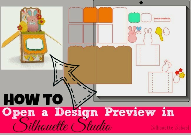 Silhouette Studio, Silhouette tutorial, design preview