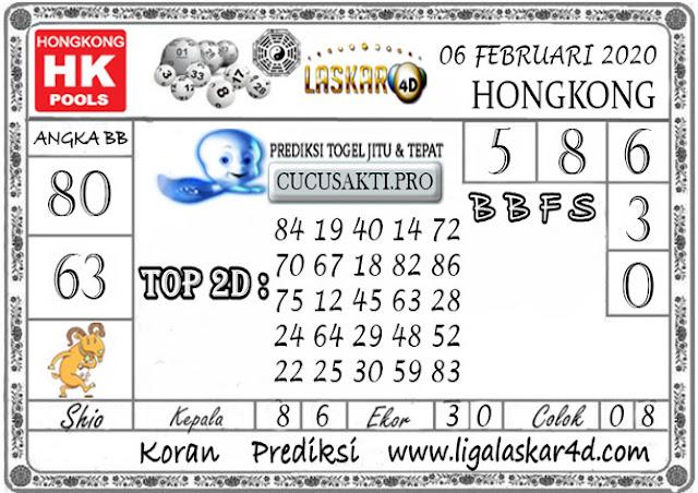 Prediksi Togel HONGKONG LASKAR4d 06 FEBRUARI 2020