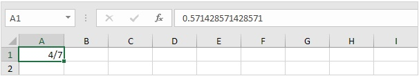 fraction in excel