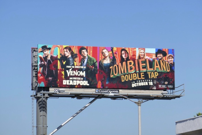 Zombieland Double Tap movie billboard