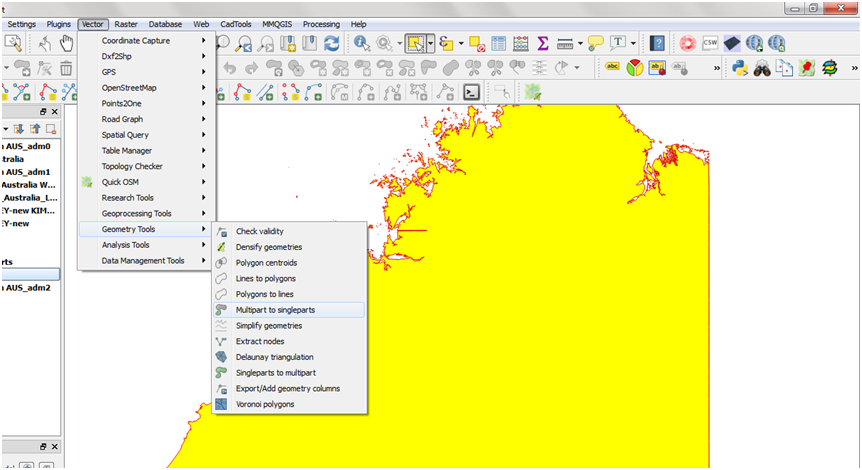 Geospatial Solutions Expert: QGIS Multipart to Singleparts