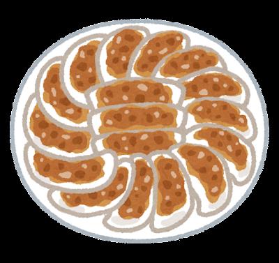 円盤餃子のイラスト