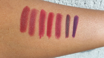 berry lip liner swatches - www.modenmakeup.com