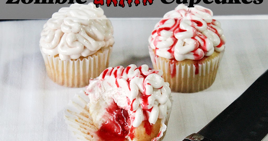 Zombie Brain Cupcakes {Recipe + Instructions}