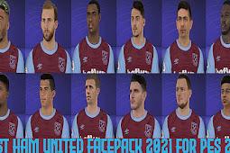 West Ham United Facepack 2021 For - PES 2017