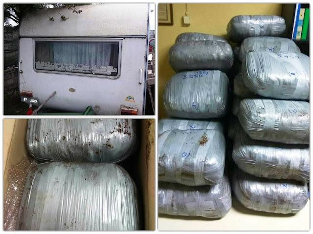 Εξαρθρώθηκε εγκληματική οργάνωση που έστελνε ναρκωτικά σε χώρες της Βόρειας Ευρώπης - Έκρυβαν τα ναρκωτικά σε τροχόσπιτο