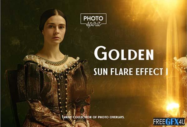 Golden Sun Flare Overlay Effect