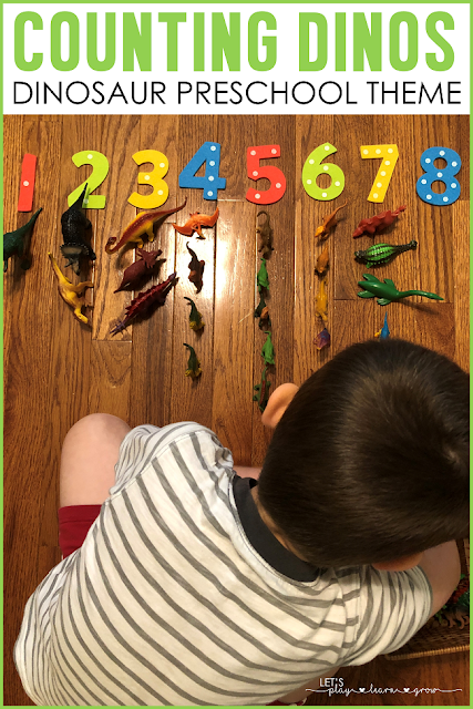 Dinosaur Counting Activity for Preschool